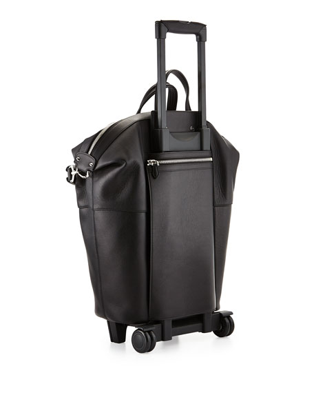 fake prada handbags for sale - Givenchy Leather Nightingale Wheeled Trolley Bag, Black