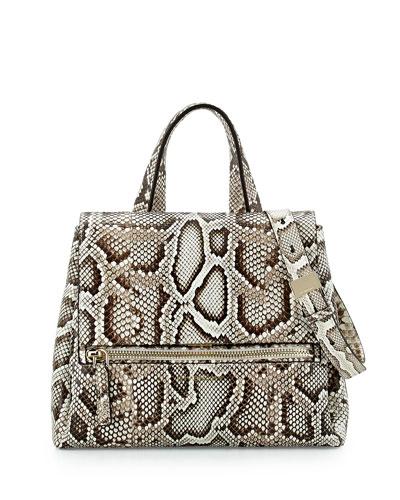 Pandora Pure Small Python Satchel Bag, Natural