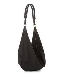 Sling 15 Nylon Hobo Bag, Black