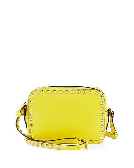 86667d32e8 Valentino Rockstud Camera Crossbody Bag, Yellow