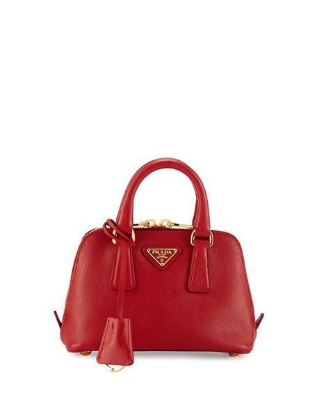 ca2f5262a3c4 Prada Mini Saffiano Promenade Bag, Red (Fuoco)