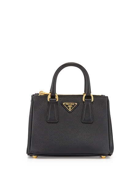 4217b76a4e23 ... where to buy prada saffiano mini galleria crossbody bag black nero  605f6 bb6c3