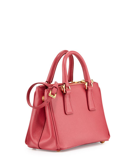 prada handbag sale - Prada Saffiano Mini Galleria Crossbody Bag, Pink (Peonia)