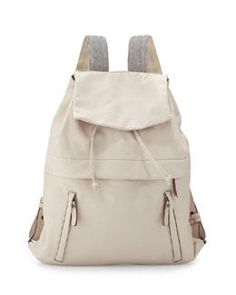 K-Way Monili Lambskin Backpack, Off White