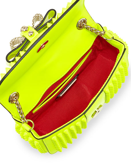 Sweet Charity Small Crossbody Bag, Neon Yellow