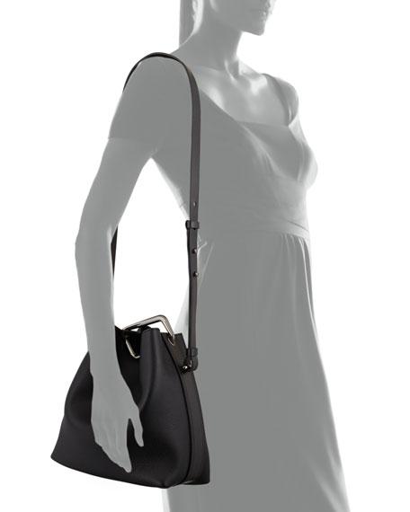Quill Mini Bucket Bag, Black