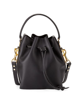Fleetwood Small Bucket Bag, Black