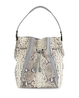 Python Bucket Bag, Natural/Smoke