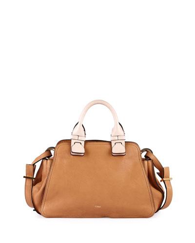 Fynn Small Double-Handle Satchel Bag, Sand