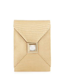 Itty-Bitty Metallic Prunella Crossbody Bag, Golden
