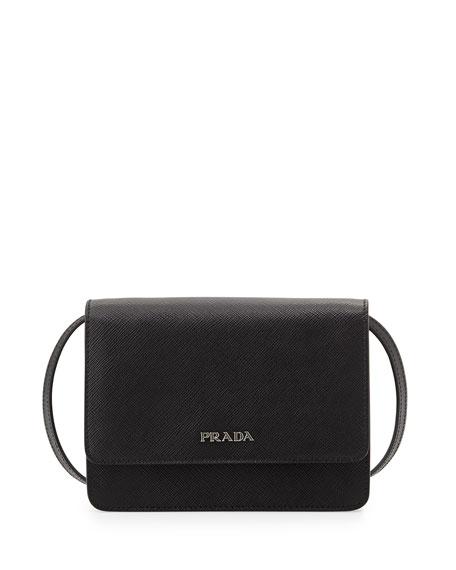 7c34bcd14900 Prada Saffiano Lux Crossbody Bag, Black (Nero)