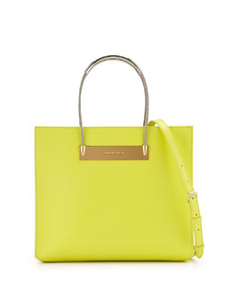 AJ Cable-Handle Shopper Tote, Yellow