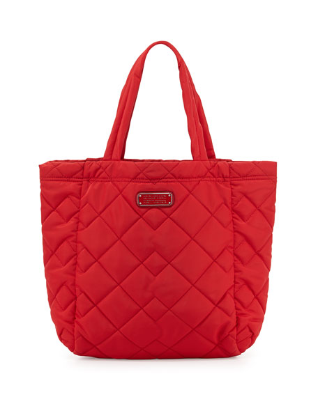 MARC by Marc Jacobs Crosby Quilted Tote Bag, Rosey Red : marc jacobs quilted tote bag - Adamdwight.com