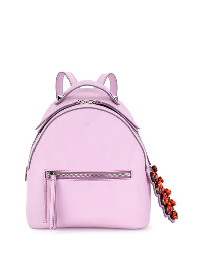 Mini Crystal-Croc-Tail Backpack, Light Pink