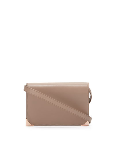 Prisma Double Biker Purse, Latte