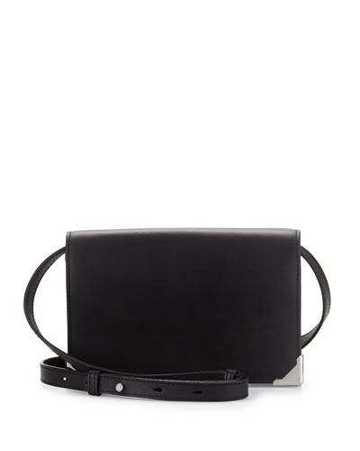 Prisma Double Biker Purse, Black