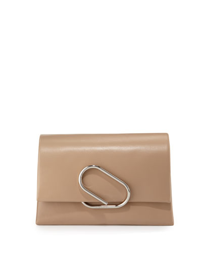 Alix Soft Flap Clutch Bag, Fawn