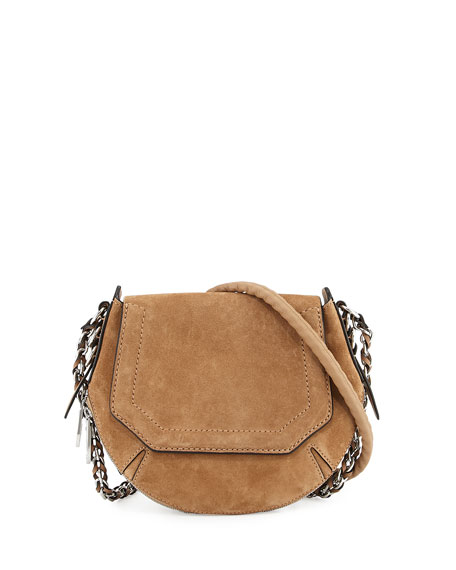 Bradbury Mini Flap-Top Saddle Bag, Camel