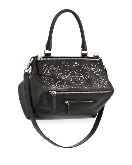 297fe4d73c15 Givenchy Pandora Carpet-Pattern Studded Shoulder Bag