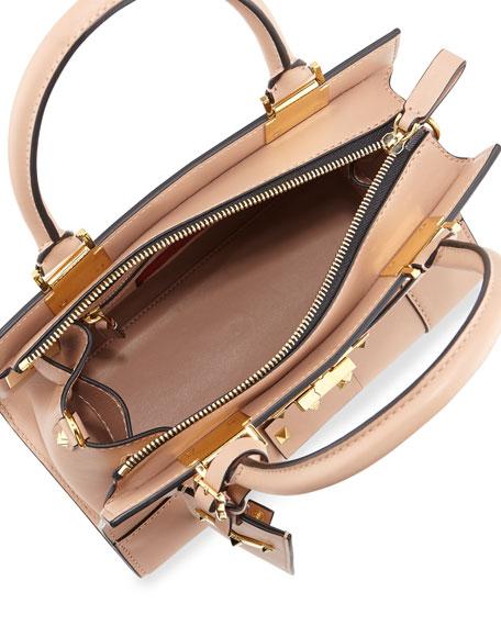My Rockstud Mini Top-Handle Tote Bag, Taupe