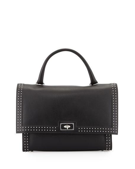 Givenchy Shark Medium Stud Couture Shoulder Bag, Black