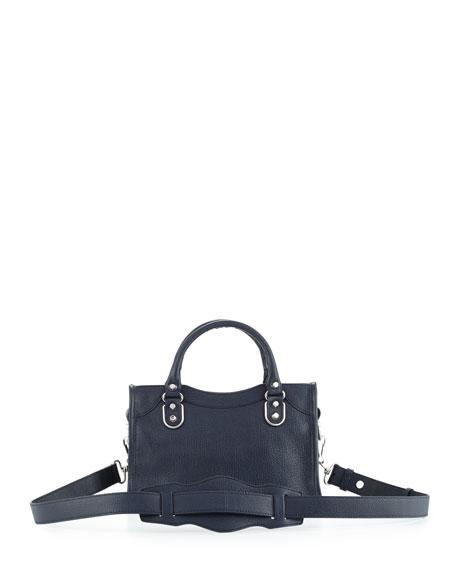 Metallic Edge City Mini Bag, Royal Blue