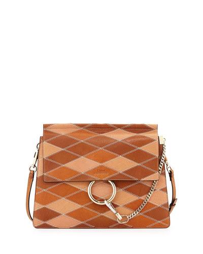 chloe elsie python bag - faye bag in suede calfskin rainbow patchwork \u0026amp; smooth calfskin