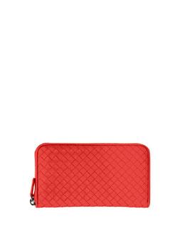 Continental Zip-Around Wallet, Red
