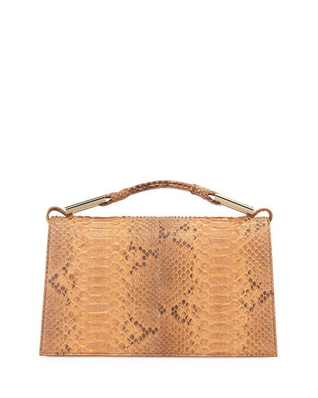 Charlotte Python Evening Clutch Bag, Luggage