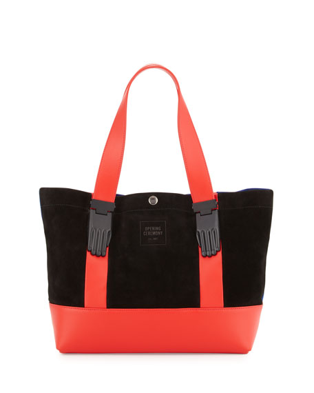 Millie Colorblock Small Tote Bag, Cobalt/Multi