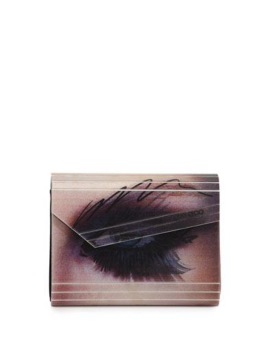 Candy Winking Eye Clutch Bag, Multi