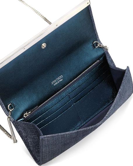 Milla Denim Clutch Bag, Indigo
