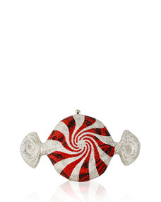 Peppermint Candy Crystal Clutch Bag by Judith Leiber Couture