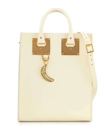 62bc915d0 Sophie Hulme Albion Mini Go Bananas Tote Bag, Cream