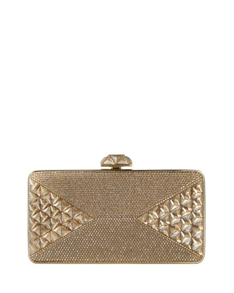 Judith Leiber Couture Diamond Crystal Box Clutch Bag,