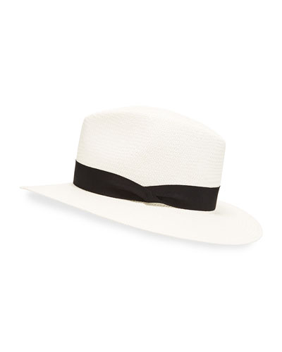 Panama Straw Hat  White