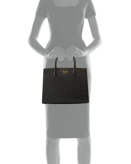 00f997feee Prada Bibliotheque Medium Saffiano Top-Handle Tote Bag