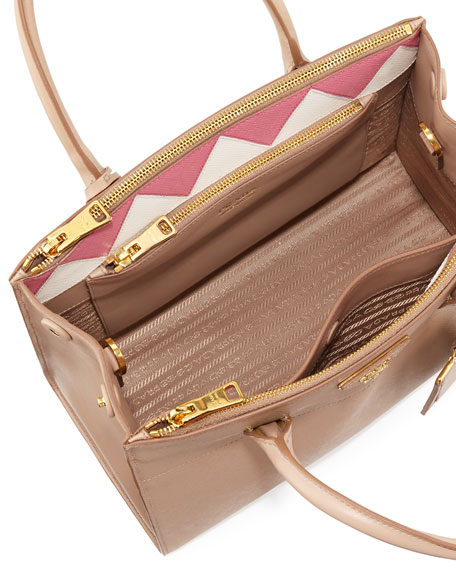 Medium Saffiano Greca Paradigm Tote Bag