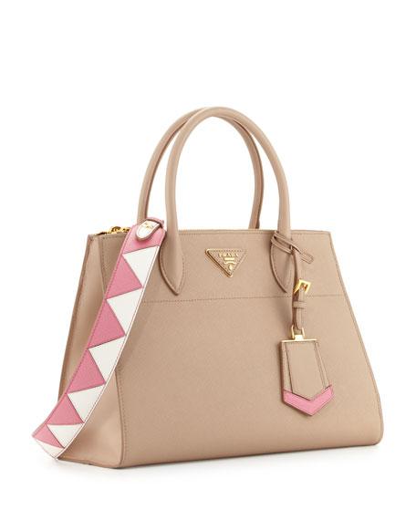 abd5f4b4b90d Prada Medium Saffiano Greca Paradigm Tote Bag