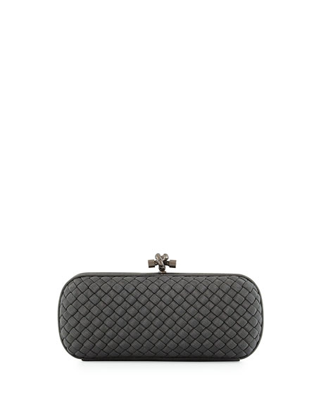 Faille Stretch Knot Minaudiere Bag