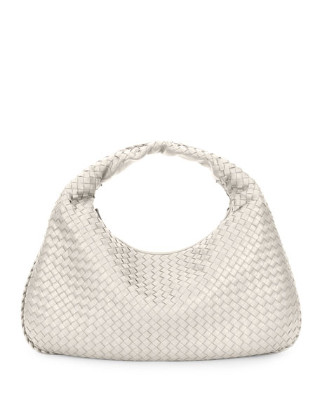 Bottega Veneta Intrecciato Woven Large Hobo Bag