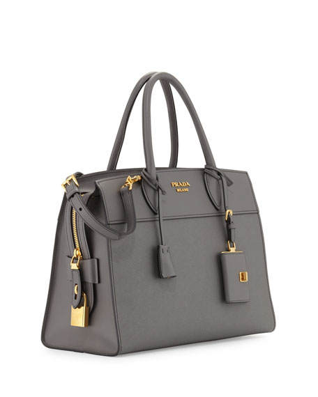 Medium Saffiano + City Calf Explanade Tote