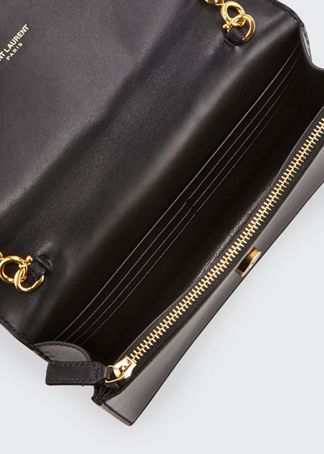 Kate Monogram Smooth Leather Tassel Wallet on Chain