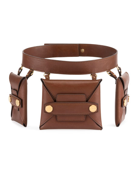 Image 1 of 1: Faux-Leather Trio Belt Bag