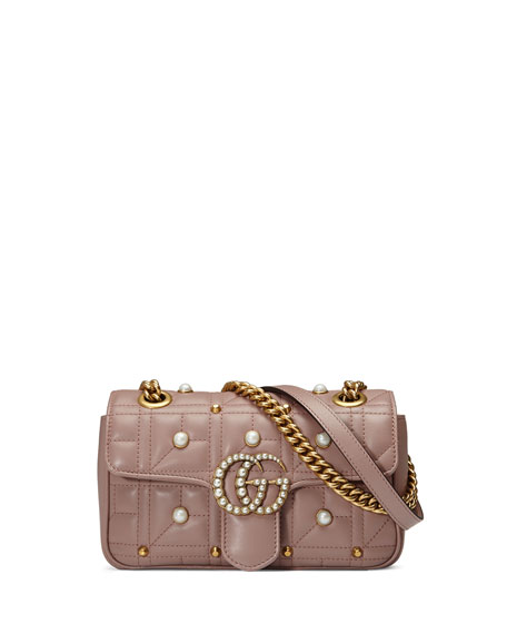 Gucci GG Marmont 2.0 Pearly Quilted Mini Bag,