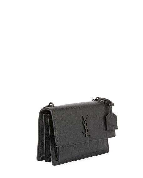 Monogram Sunset Medium Satchel Bag, Black