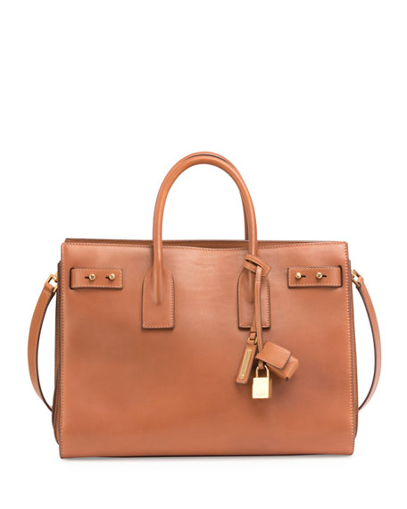 Sac de Jour Medium Supple Leather Bag, Cognac