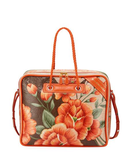 Blanket Square Medium Floral-Print Tote Bag