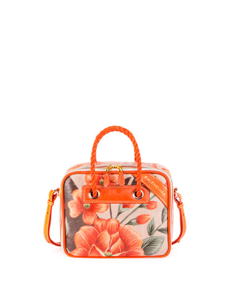 Balenciaga Blanket Square Small AJ Tote Bag, Orange