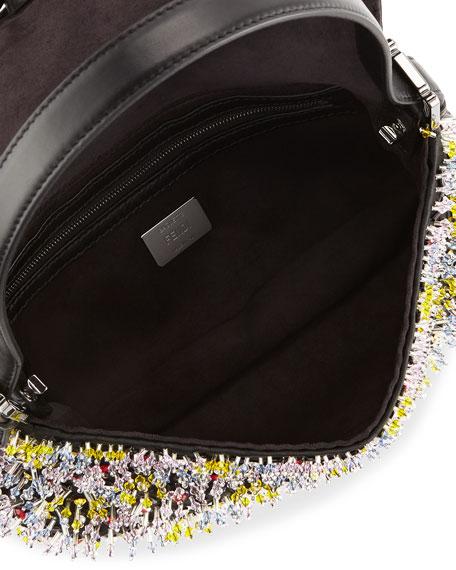 Baguette Beaded Leather Shoulder Bag